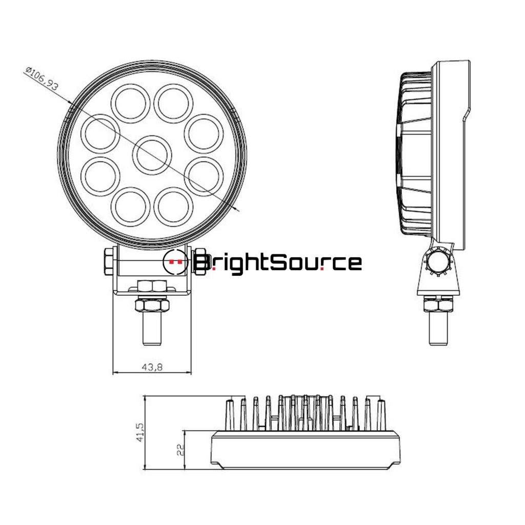 shop brightsource 4 u0026quot  round work light flood at unmatched prices