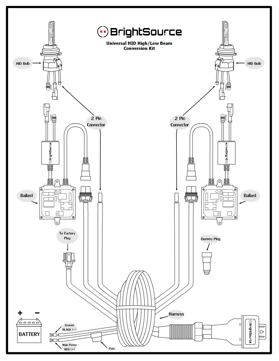 ford relay wiring diagram for hid headlights  ford  auto
