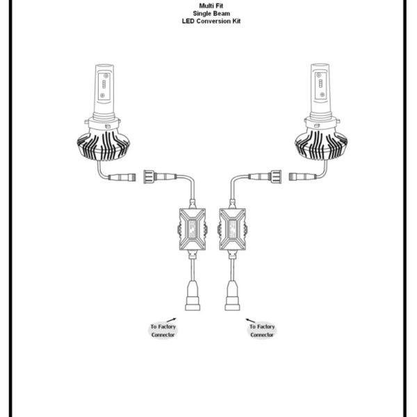 Multi Fit Single Beam LED Conversion Kit