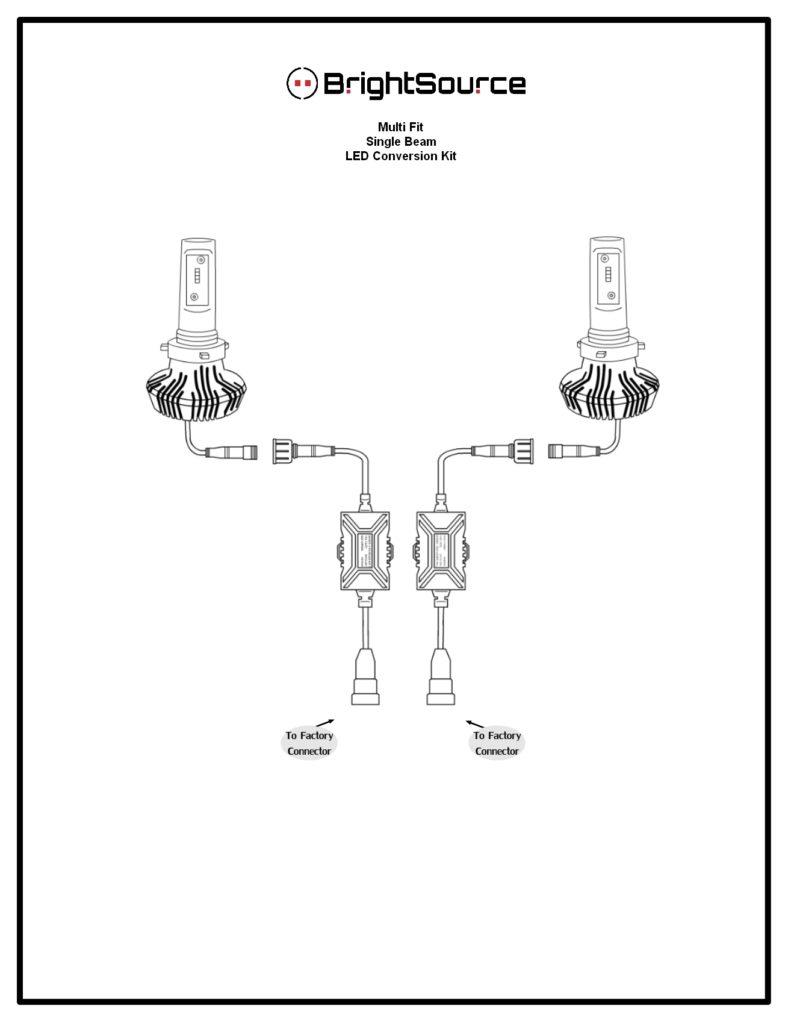 94522 5202  h16  u2013 fog led kit reversible heatsink