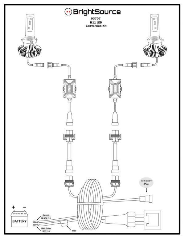 93707 H11 LED Conversion Kit