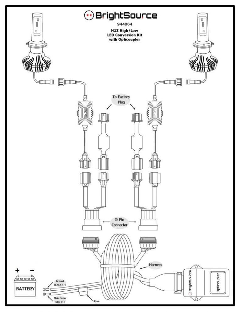 944064 H13 High Low LED Conversion Kit
