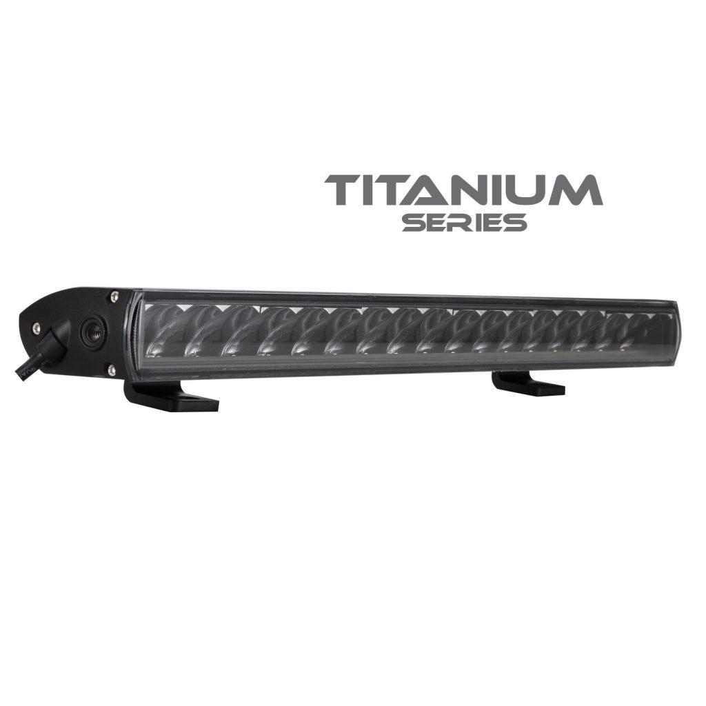 – Single Row E-Code #771202 Titanium Light Bar 20″