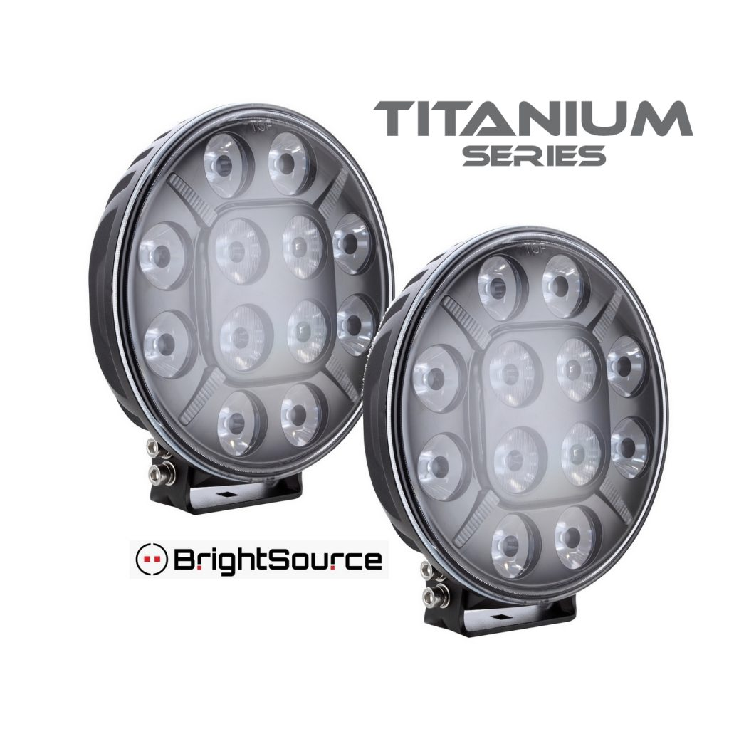 7″ Round 'E' Code Titanium Series Lights (pair) #870072