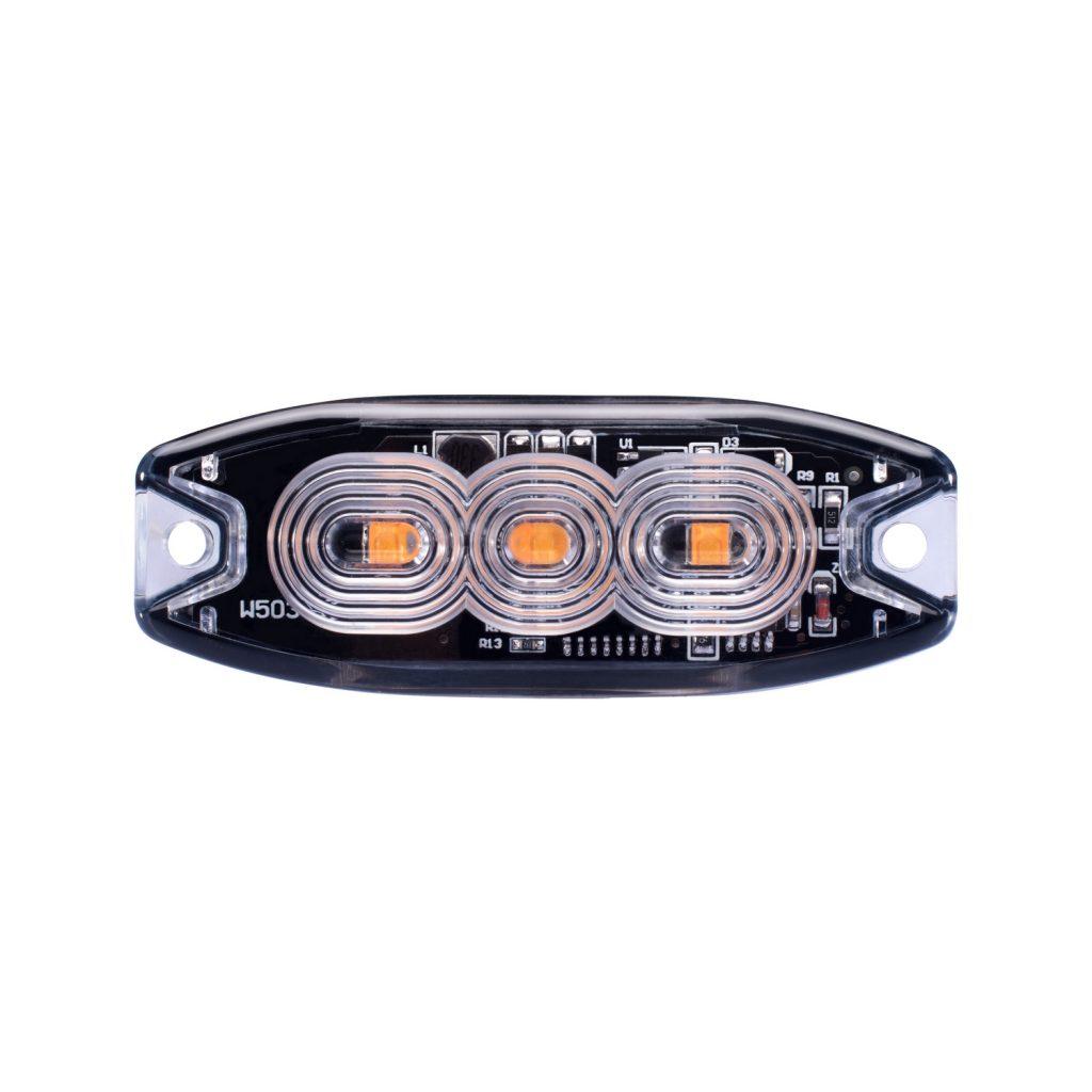 3 LED  Amber Marker Light, SAE Class 1 #S19SM3A